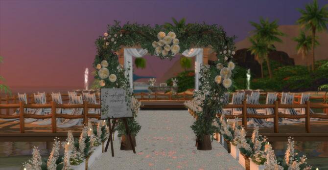 Pier Wedding Beach Sims 4