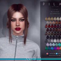 Pilar Sims 4 Hairstyle by Anto