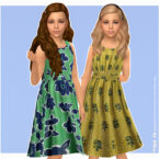 Pina Sims 4 Dress for Kids
