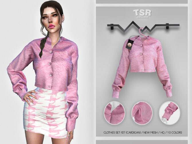 Pink Sims 4 cardigan