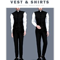 Priest vest shirts Sims 4