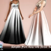 Prom Dress With Floral Tulle 1