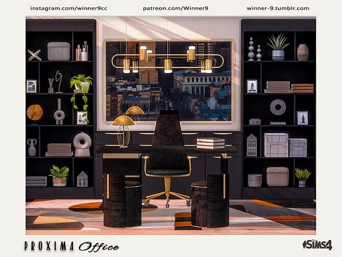 Sims 4 Proxima Office by Winner9 at TSR