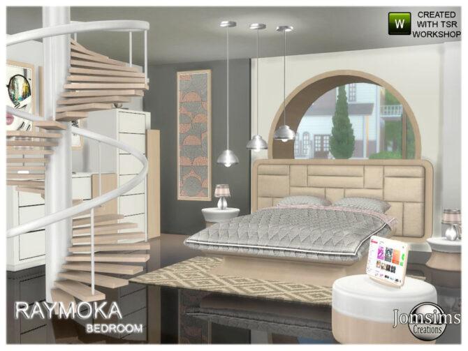 Sims 4 Raymoka bedroom by jomsims at TSR