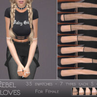 Rebel Sims 4 Gloves by Dissia