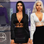 Rose Blouse for Sims 4 by Camuflaje