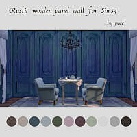 Rustic Wooden Panel Wall Sims 4 Pocci