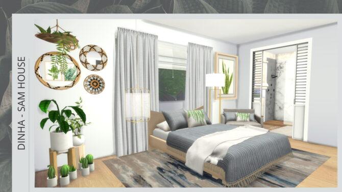 Sims 4 SAM HOUSE at Dinha Gamer