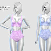 Swimsuit Sims 4 N 103 By Pizazz