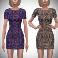 Sable Sims 4 Dress by Pipco