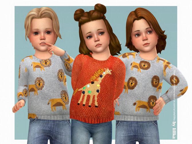Safari Animals Sweater Sims 4 CC