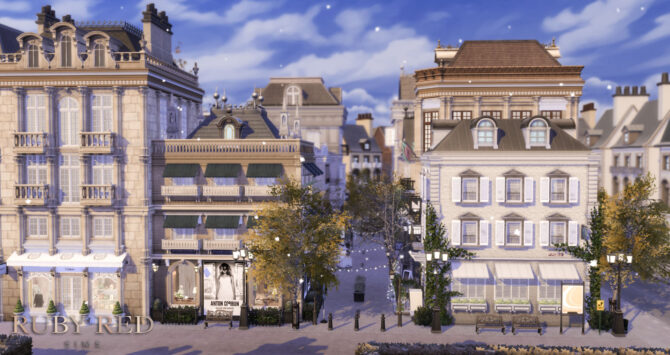 Sims 4 Shopping Street at Ruby Red