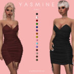 Short Bodycon Ruched Dress Sims 4