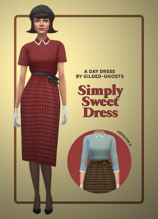 Sims 4 Simply Sweet Dress at Gilded Ghosts