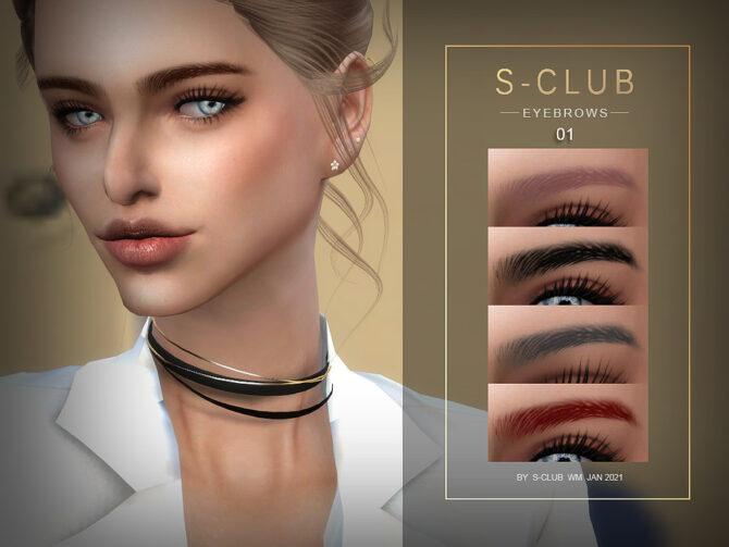 Sims 4 Eyebrows 202101 by S Club WM