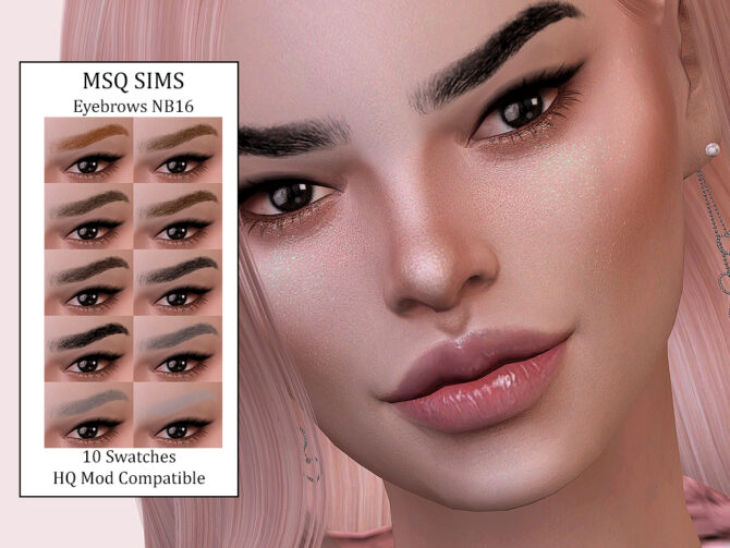 Sims 4 Eyebrows NB16