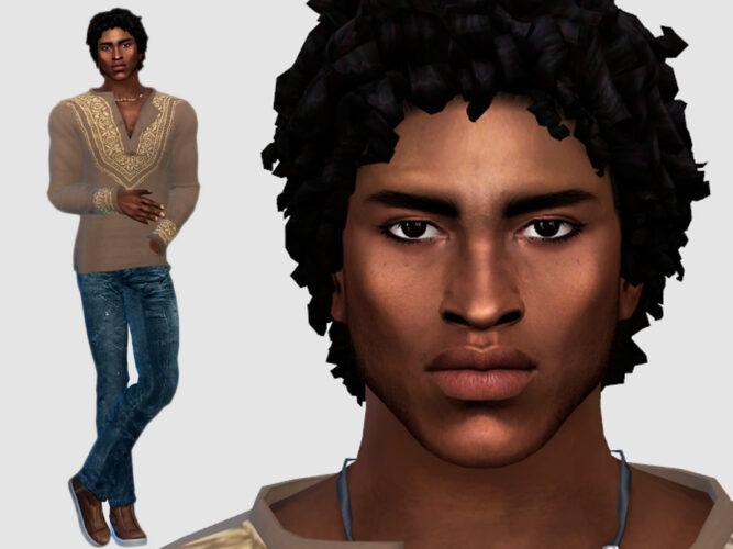 Sims 4 Male Model Akin Okocha