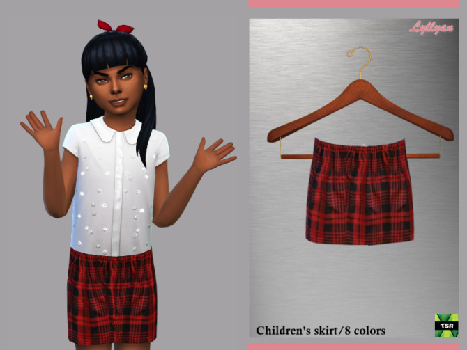 Sims 4 Skirt for child Larisa by LYLLYAN