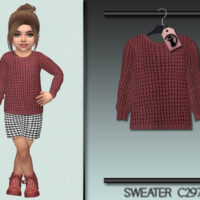 Sims 4 Sweater C297 for toddler girls