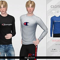 Sims 4 Sweater For Men 01 By Remaron