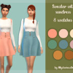 Sims 4 Sweater with sundress
