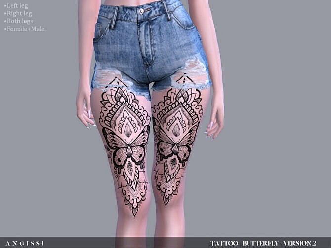 Sims 4 Tattoo Butterfly version 2 by ANGISSI