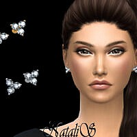Sims 4 studs by NataliS Triple diamond cluster