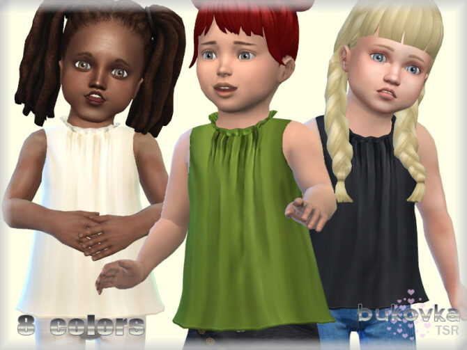 Sleeveless Sims 4 blouse for babies