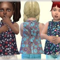 Sleeveless Sims 4 blouse for toddlers