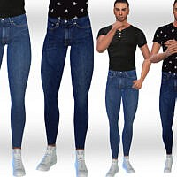 Slim Fit Sims 4 Jeans For Males