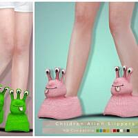 Slippers Sims 4 Children Alien