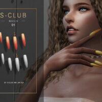 Stiletto nails Sims 4