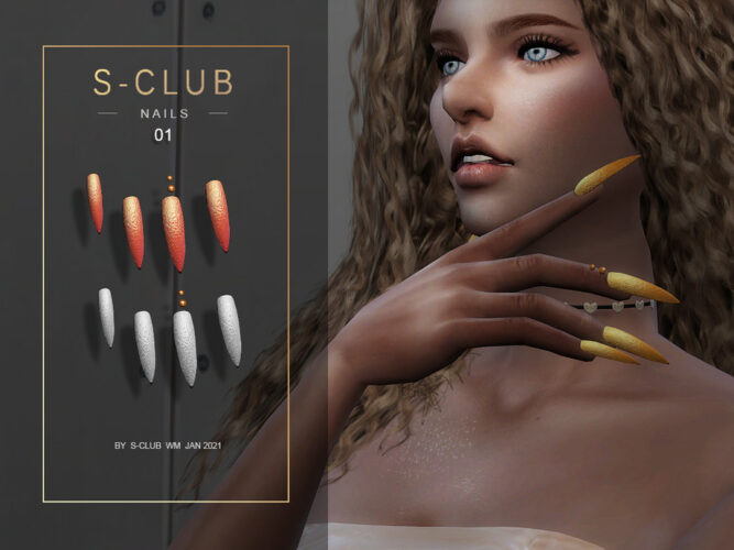 Stiletto nails Sims 4
