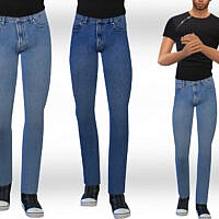 Straight Jeans Sims 4 Male