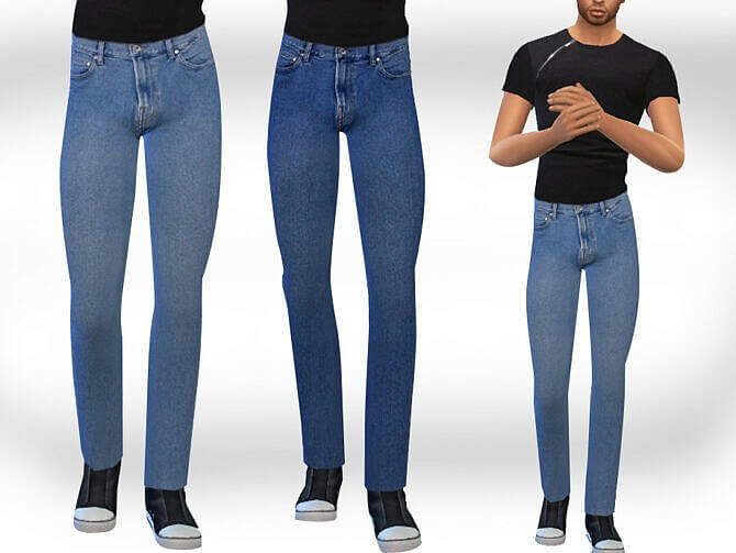 Sims 4 Male Sims Straight Jeans by Saliwa at TSR