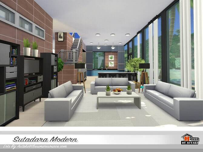 Sims 4 Sutadara Modern Villa by autaki at TSR