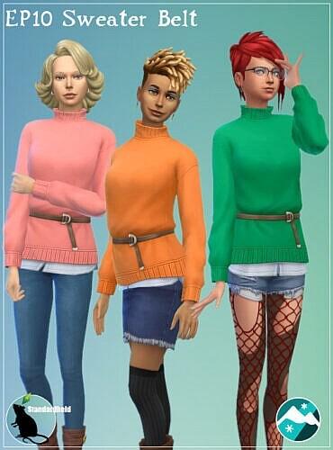 Sweater Belt Sims 4 Ep10