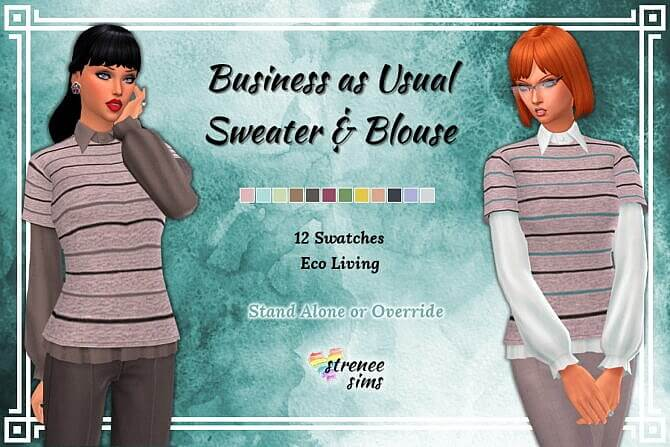 Sweater Blouse Sims 4