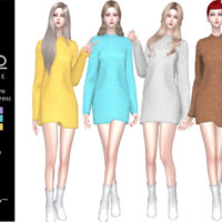 Sweater Dress by Helsoseira Sims 4 CC