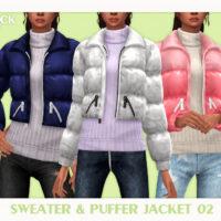 Sweater Puffer Jacket Sims 4