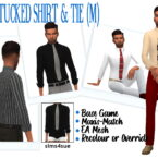 TUCKED SHIRT TIE SIMS 4 SUE