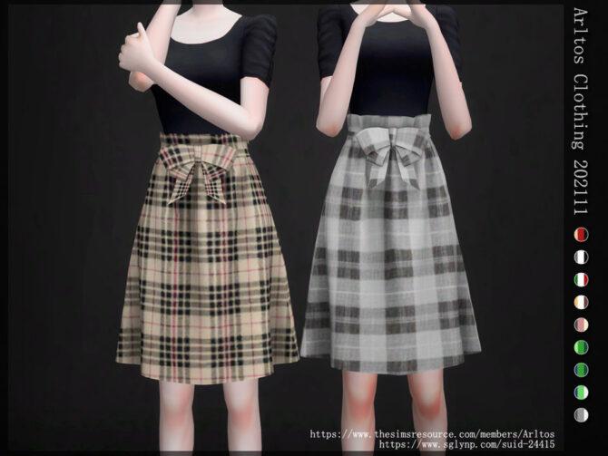 Sims 4 High Waist Above Knee Skirt by Arltos at TSR