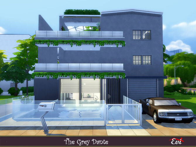 Sims 4 The grey dante house by evi at TSR