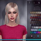 Tina Sims 4 Hairstyle By Anto