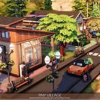Tiny Village Sims 4 by MychQQQ