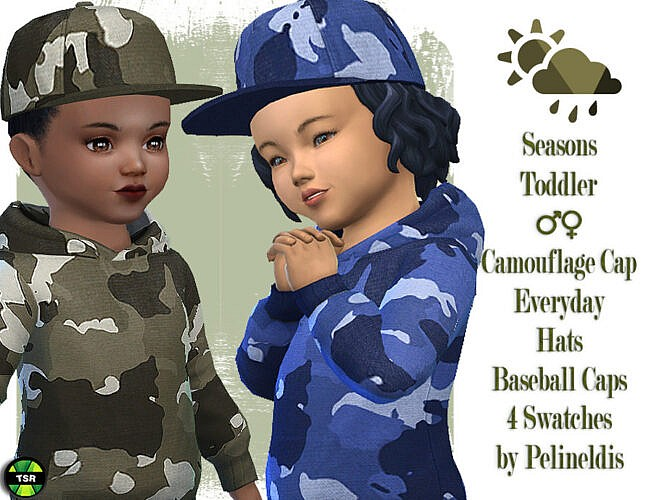 Toddler Camouflage Cap by Pelineldis 1