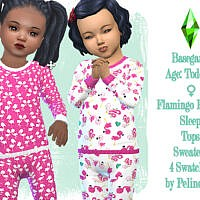 Toddler Pyjamas Sims 4 Top Flamingo