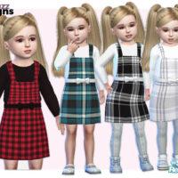 Toddler Tartan Pinafore Sims 4 Dress