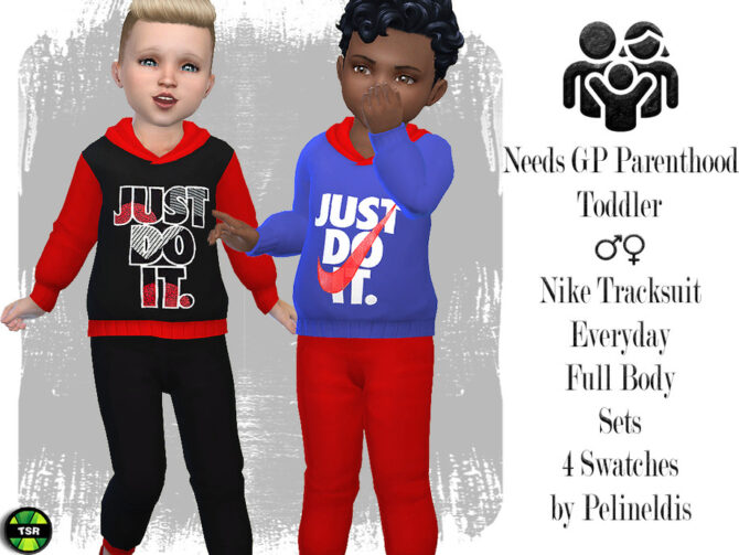 Sims 4 Toddler Tracksuit by Pelineldis at TSR