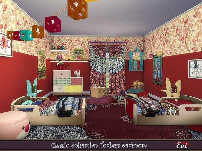 Toddlers Room Sims 4 Classic Bohemian